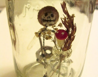 Fairy In A Jar - Zeeka (Made with Real Cicada Wings)