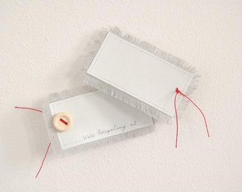 Personal Jewelry, Writable Broche, Tag Your Clothes, fits to standard buttonholes, personal gift