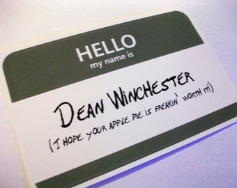 """Shop """"dean winchester"""" in Craft Supplies & Tools"""