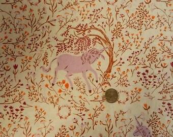 VHTF Heather Ross Far Far Away  Unicorn  Lilac - FQ 18 inches x 22 inches