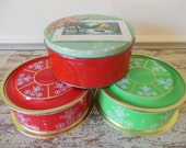 Vintage Christmas Cookie/Candy Tins
