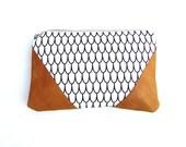 designer cotton and lambskin leather purse leather clutch bag leather handbag