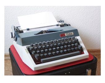 Vintage Manual Typewriter, Working Typewriter, 1970s, Erika Daro Typewriter, Office Home Decor, Studio Decor, QWERTZ Keyboard