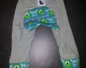 Ready To Ship: Medium Monster Bunz Pants with Monsters In Training Accent - Slim fit - Seconds