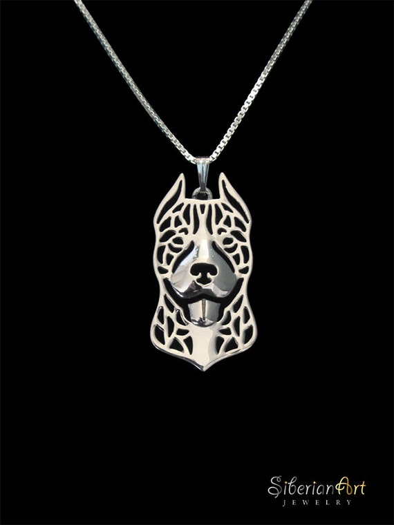 pitbull jewelry pitbull sterling silver pendant and necklace 666