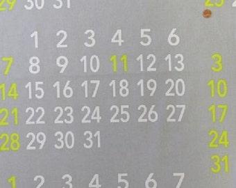 Measurements Calendar  Col B from Kokka