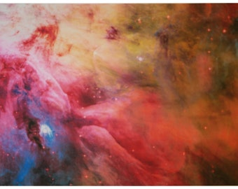 Astronomy Fabric Orion Nebula 25 x 17 inches on Linen-Cotton Canvas