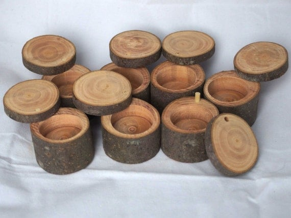 rustic ring box 1 chamber natural wood keepsake box in