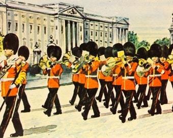 Vintage Tin London Scenes Foot Guard Buckingham Palace London Souvenir