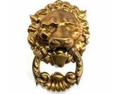 Antique Lion Door Knocker Regency