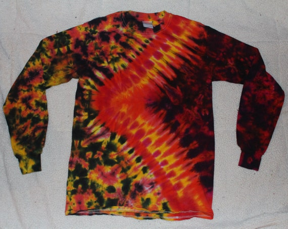 Long sleeve custom tie dye t shirt adult by purpletasticnikki for Customized tie dye shirts