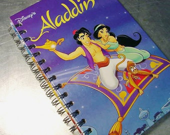 Journal  ALLADIN Disney Vintage BOOK Recycled