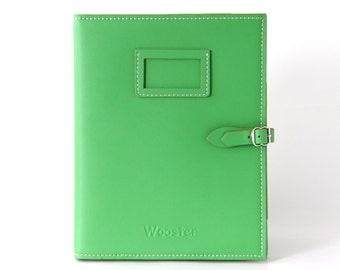 2 in 1 Handmade Leather iPad Case and Stand - Emerald Green