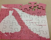 SALE Set of 6 Will you Be My Bridesmaid / Maid of Honor Puzzles.  Will you be my Bridesmaid.  Wedding Attendant invite Set