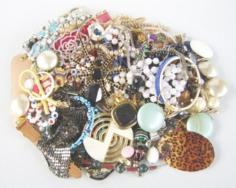 Vintage & New Jewelry Destash 3 Pound Lot Wear Repair Upcycle Jewelry Making