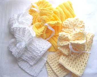 3 Spa Sets to Knit - PDF Knitting Pattern - Instant Download