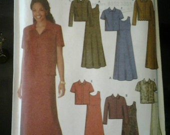 Simplicity 9861 Misses Dress and Jacket Sewing Pattern