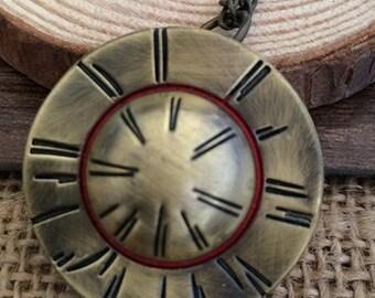 1pcs Hat  pocket watch charms pendant 33x33mm