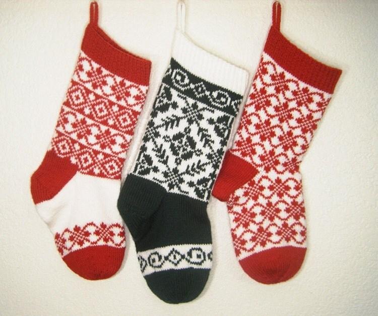 Christmas Stocking Knitting Pattern Download : Knitting Pattern Christmas Stocking Norwegian by DenisesNeedle