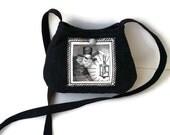 Grey Black Purse, Ghastlies Purse, Halloween Tote, Black Shoulder bag Vegan Cotton Handbag Washable Tote Bag, unique bag, caroljoyfashions77