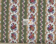 "Village Rose Floral By Fabri-Quilt Inc 100% Cotton Fabric - 45"" Width Sold By The Yard (FH-1377)"