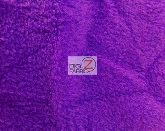 "Solid Polar Fleece Fabric - LAKERS PURPLE - 60"" Width Sold By The Yard"