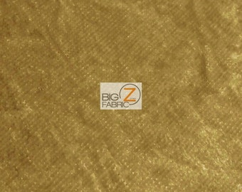 "Crushed Stretch Velvet Costume Fabric - CAMEL - 54""/55"" Width Sold By The Yard"