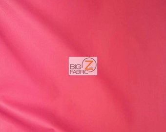 """Solid Soft Faux Fake Leather Vinyl Fabric - HOT PINK - 54"""" Width Sold By The Yard"""