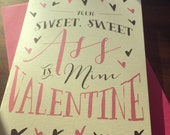 Your sweet ass is mine -valentines day card