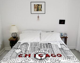housse de couette de la los angeles housse par urbanworkstextiles. Black Bedroom Furniture Sets. Home Design Ideas