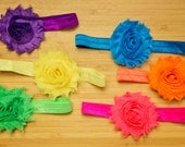 Set of 6 Neon Headbands for Babies, Toddlers, Children, Adults