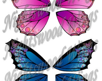 Instant Download OOAK Fairy Pixie Bear Fantasy Wing sheet 13