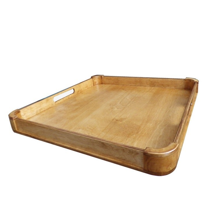 Large ottoman tray wood serving modern by sagebarnwoods