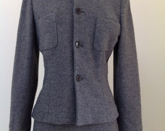 RALPH LAUREN Collection Purple Label Gray Cashmere Suit