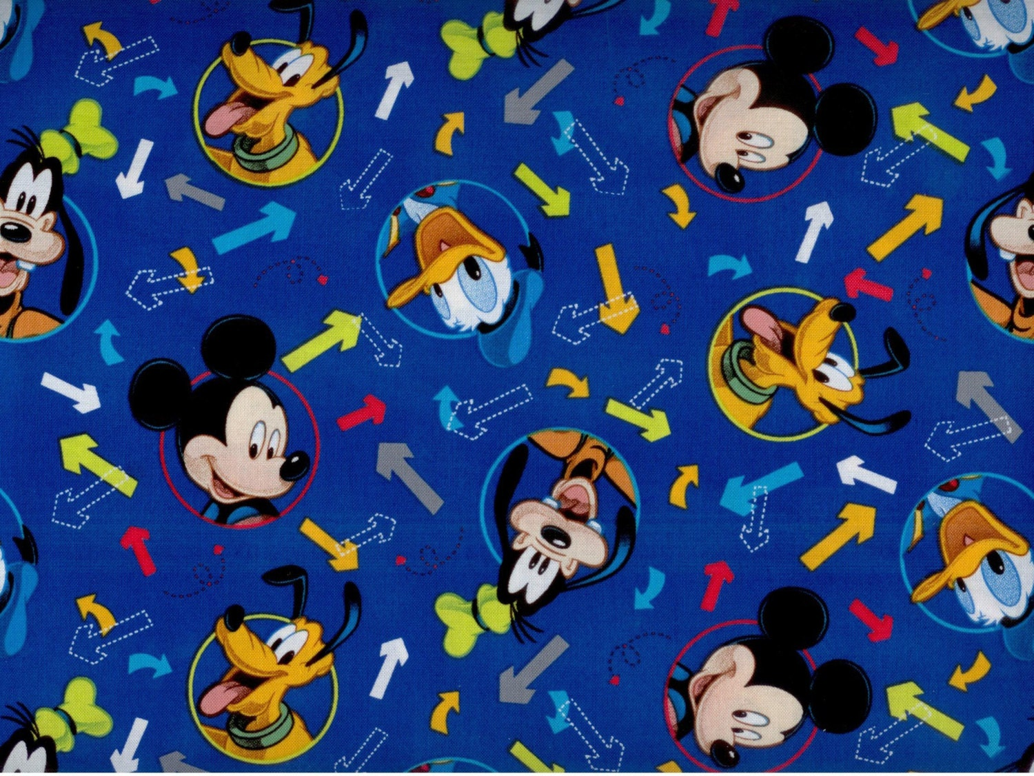 mickey mouse fabric mickey and friends donald duck goofy