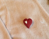Polymer Clay Valentine's Day Heart Pin/brooch