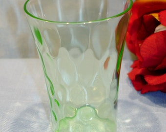Thumbprint by Federal Green Depression Glass Tumbler, 3 inch