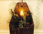 Primitive Handcrafted Wallbox Candlebox for Hanging or Shelf Sitting