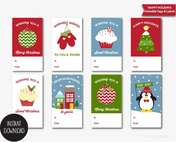 Christmas Tags Printable Christmas Gift Tags Holiday Gift Tags