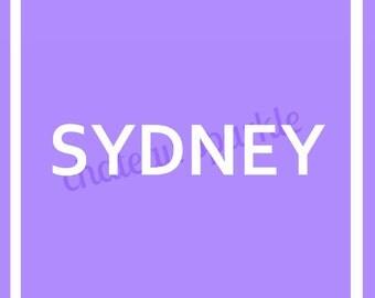 Sydney (Australia) 24 x 36 in. Digital Print