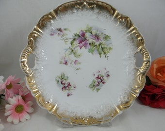 1930s Made in Germany for Walker and Stern Co. Chicago Two Handled Cake Plate
