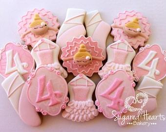 Ballerina Ballet Cookies Deluxe Set - 1 Dozen