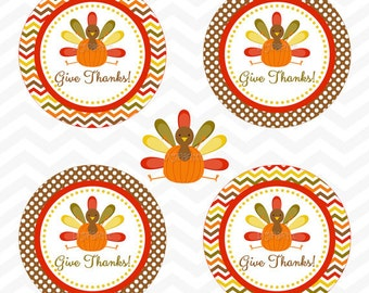 INSTANT DOWNLOAD - Thanksgiving Favor Tags