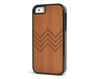 Chevron Wood iPhone 5s Case, Shockproof Rosewood iPhone 5 Case -  SK-R5-CHEVRON