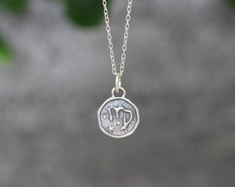 Virgo Astrology Zodiac Sign Pendant, Birthday gifts, Zodiac Jewelry, Sterling Silver Chain Included.