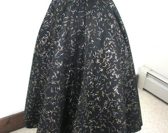 1950s Black Confetti Felt Circle Skirt.....New Old Stock........  22 Inch Waist....size Small