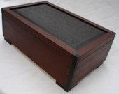 Gentlemen's Box, Jewelry, Keepsake, Document, rare woods, Wenge and Mahogany