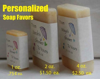 4 oz. Soap Favors - Bridal Shower Favor - Baby Shower Favors - Party Favors - Party Gifts - over 45