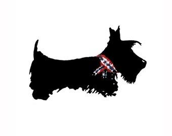 Scottie Dog Art Print Scottish Terrier