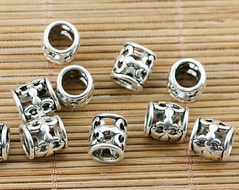 35pcs tibetan silver fleur de lis spacer beads fit bracelet EF1320